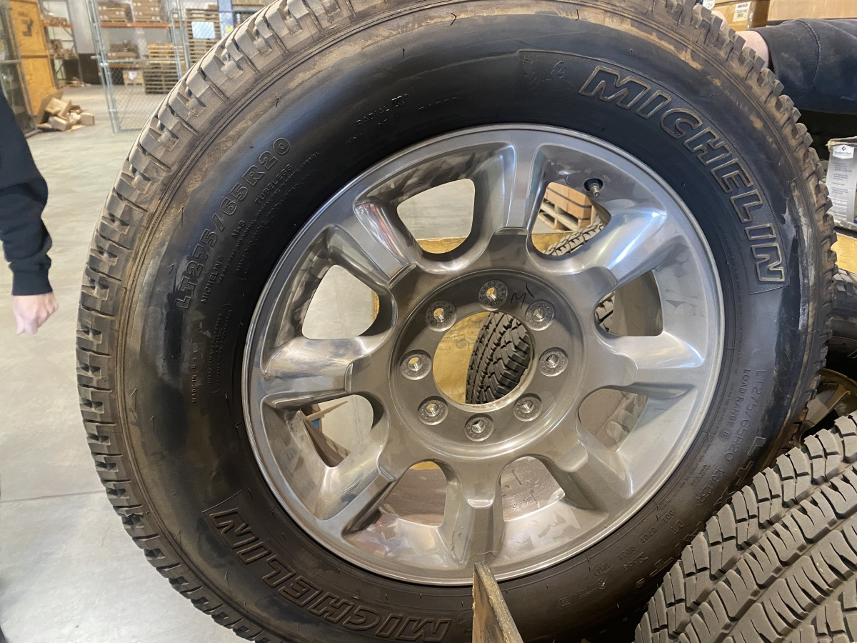 For Sale: Super Duty Stock wheels and tires - photo0