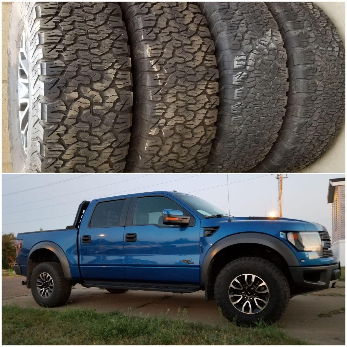 For Sale: Ford Raptor wheels and BFG KO2'S 315/70-17 tires - photo0