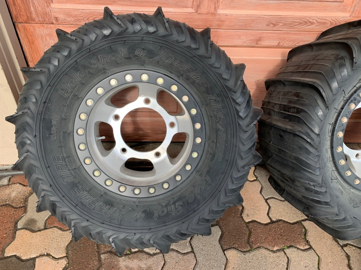 For Sale: New beadlock wheels and sand tires plus full spare - photo1