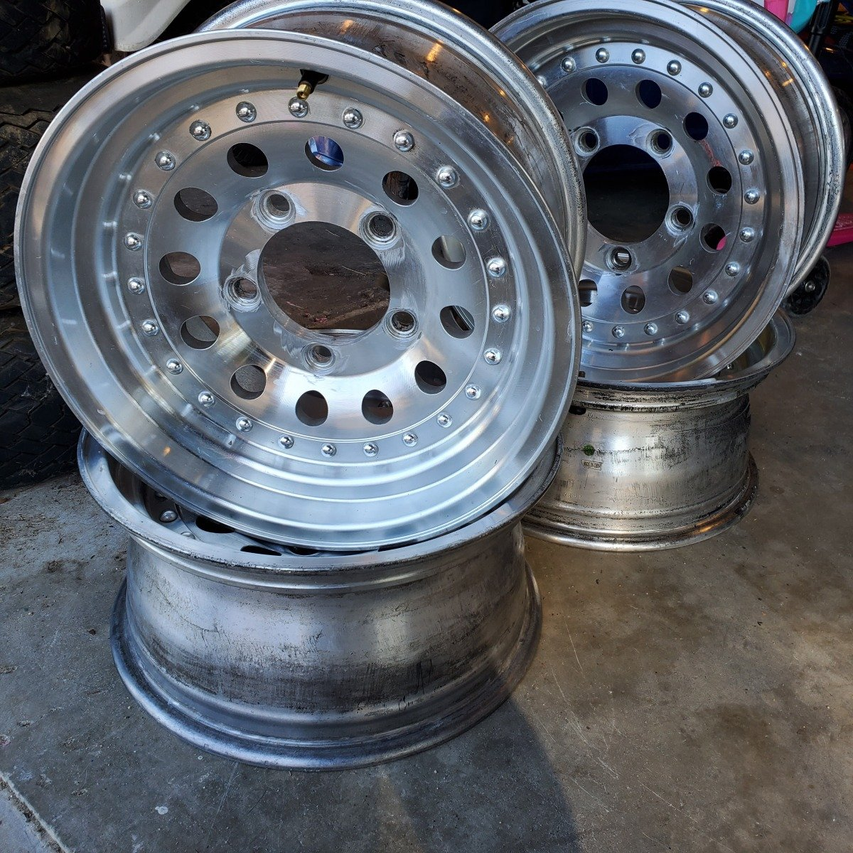 For Sale: Set of 4 rims. 5 on 5.5 for 5/8 studs - photo0