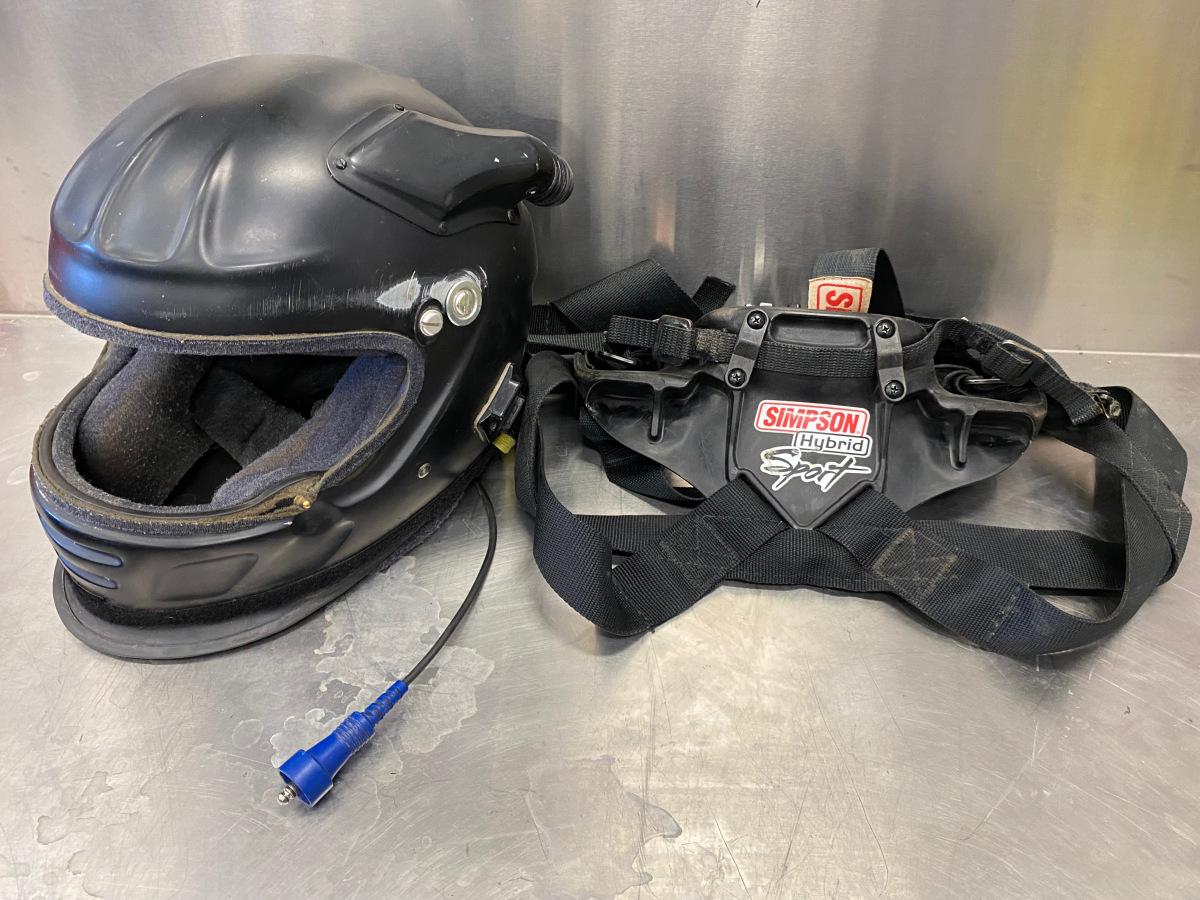 For Sale: Impact offset 20 helmet with Simpson neck brace - photo0