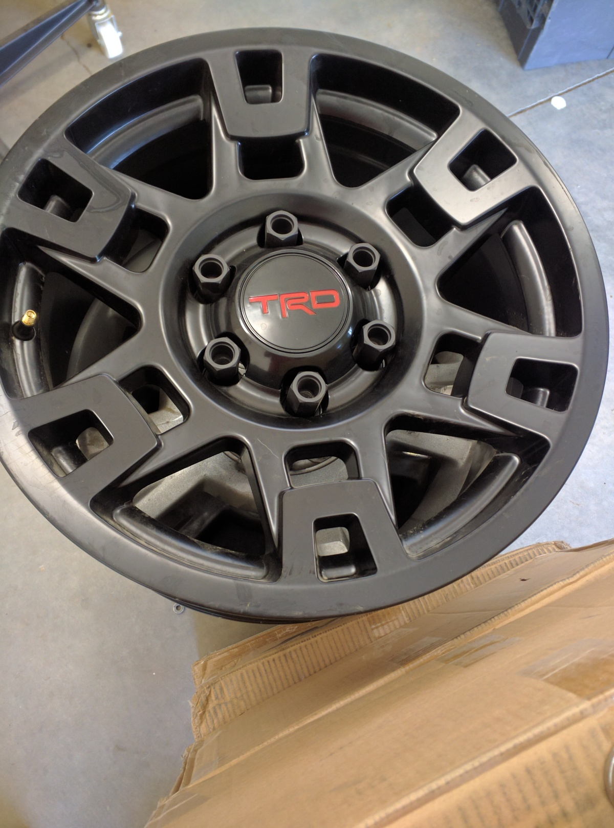 For Sale: Set of 5 TRD wheels - photo0