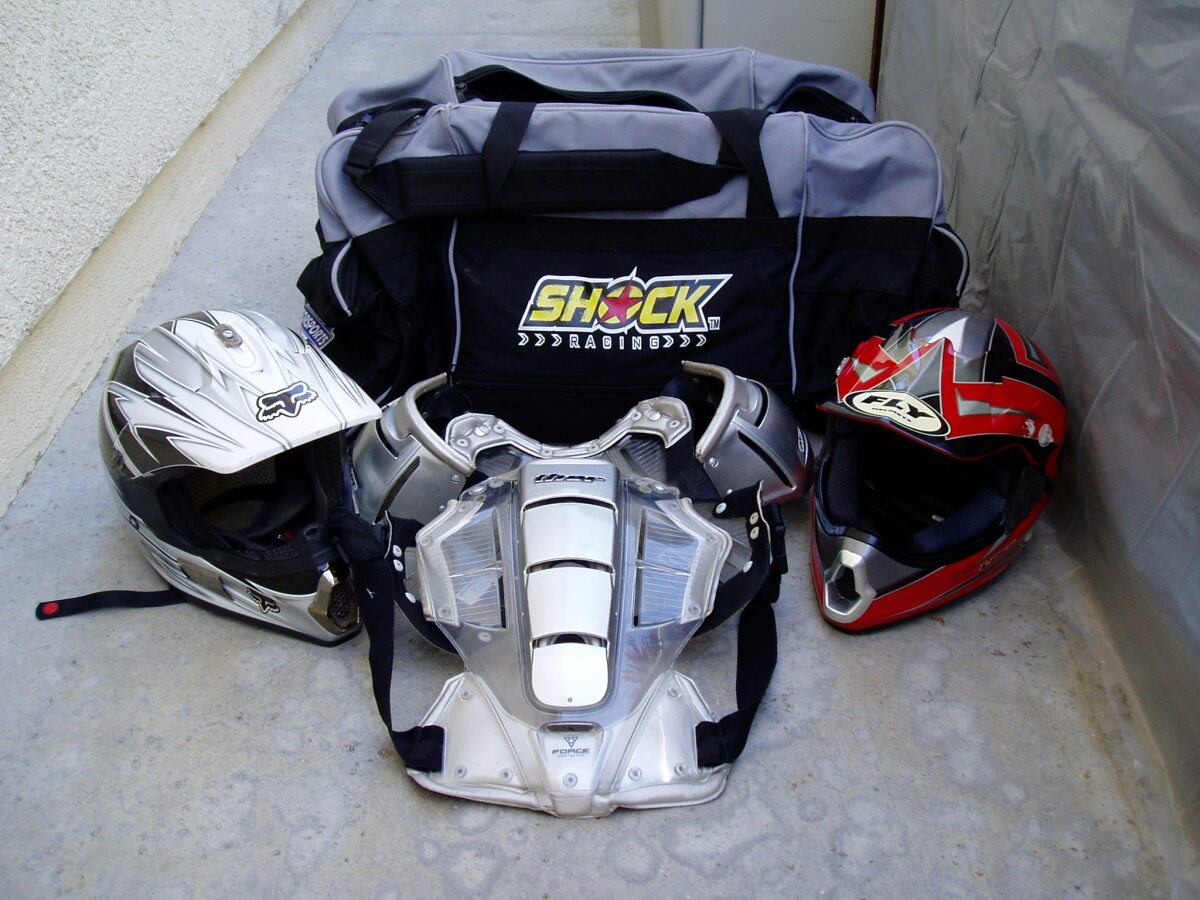 For Sale: Two full face helmets and chest protector - photo0