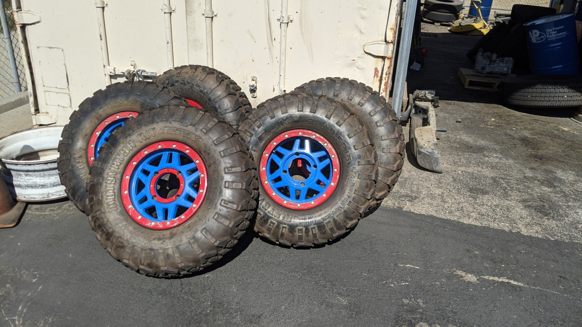 For Sale: 32x9.5x15  tires and KMC wheels - photo0