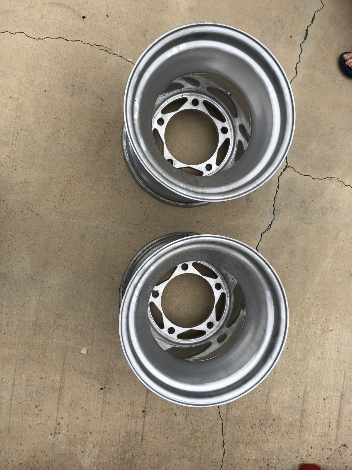 For Sale: 15 inch wide 5  rims for paddles - photo0