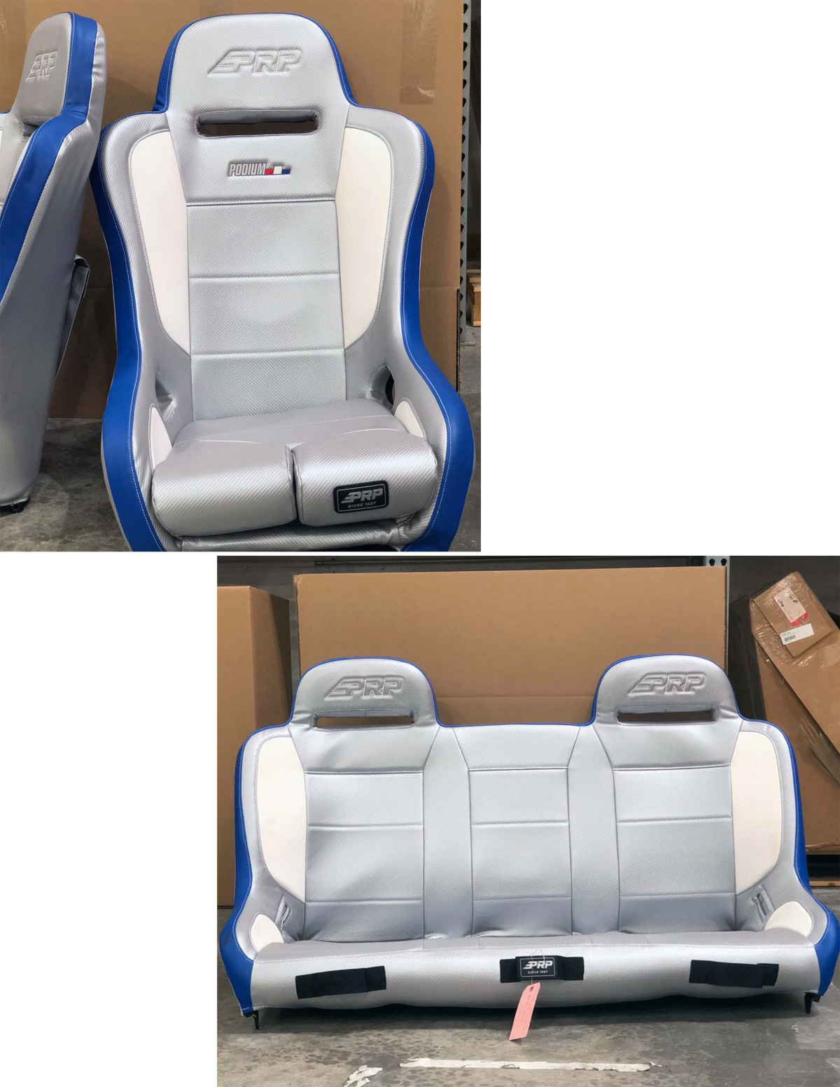 For Sale: PRP SEATS AND MATCHING BENCH-- LUMBAR PUMP, EXTRA WIDE - photo0