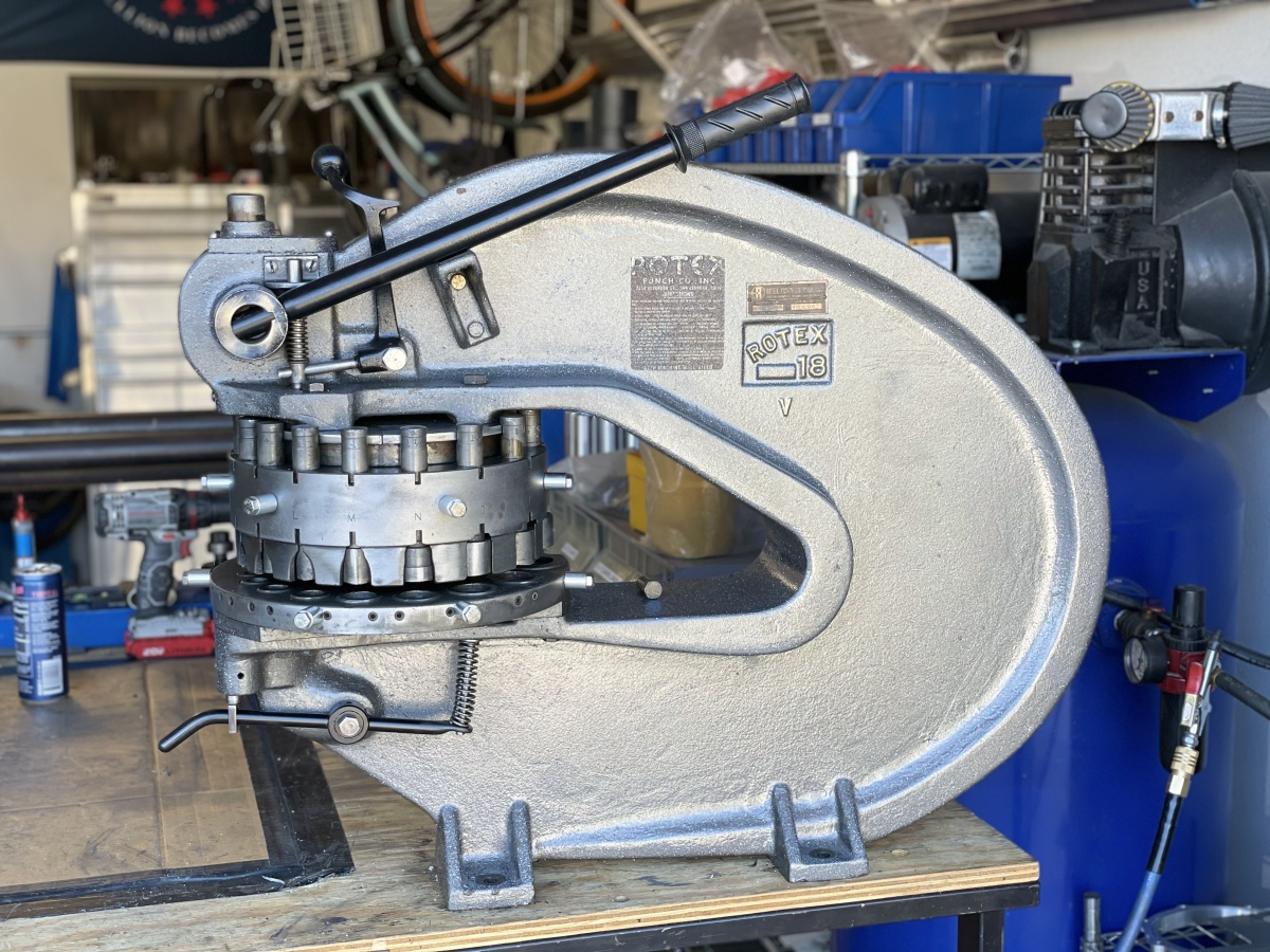 For Sale: Rotex 18 sheet metal punch  - photo0