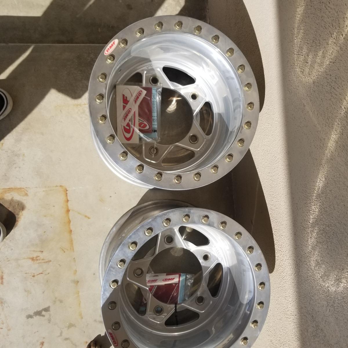 For Sale: OMF Bogart buggy rims 15x12 rears new beadlocks - photo0
