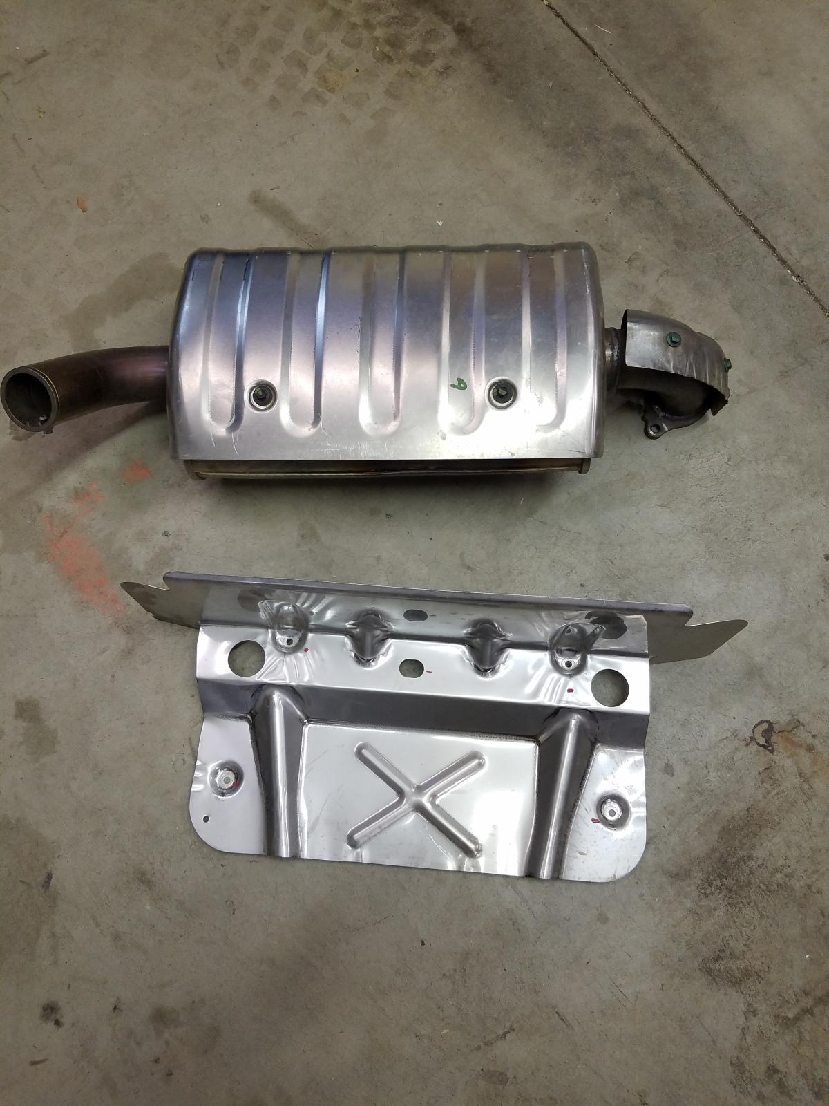 For Sale: BRAND NEW POLARIS RZR TURBO S Muffler & Heat Shield - photo0