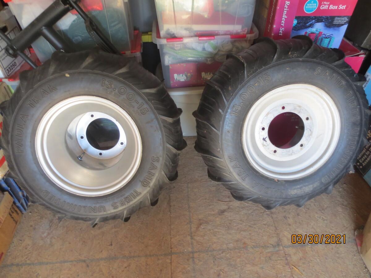 For Sale: Sand Tires Unlimited Padla Trak 13x15 on Aluminum Rims - photo0