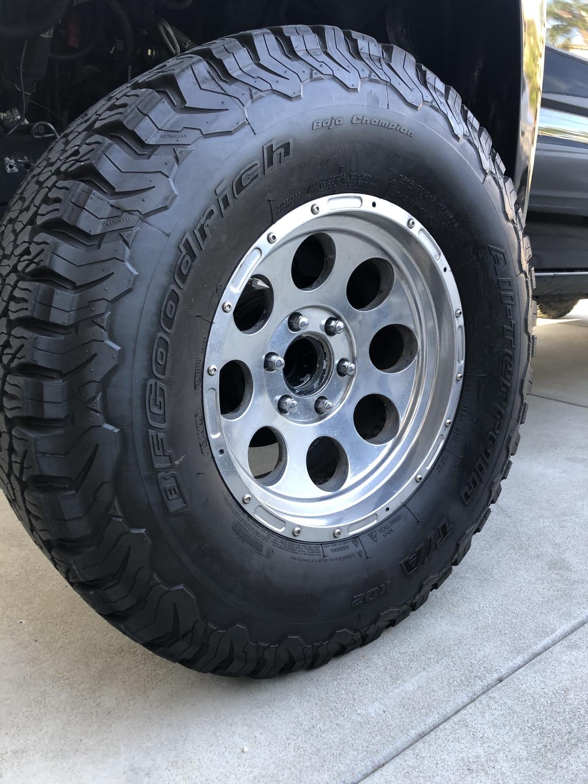 For Sale: -4- BFG All Terrain KO2's with aluminum wheels  - photo0