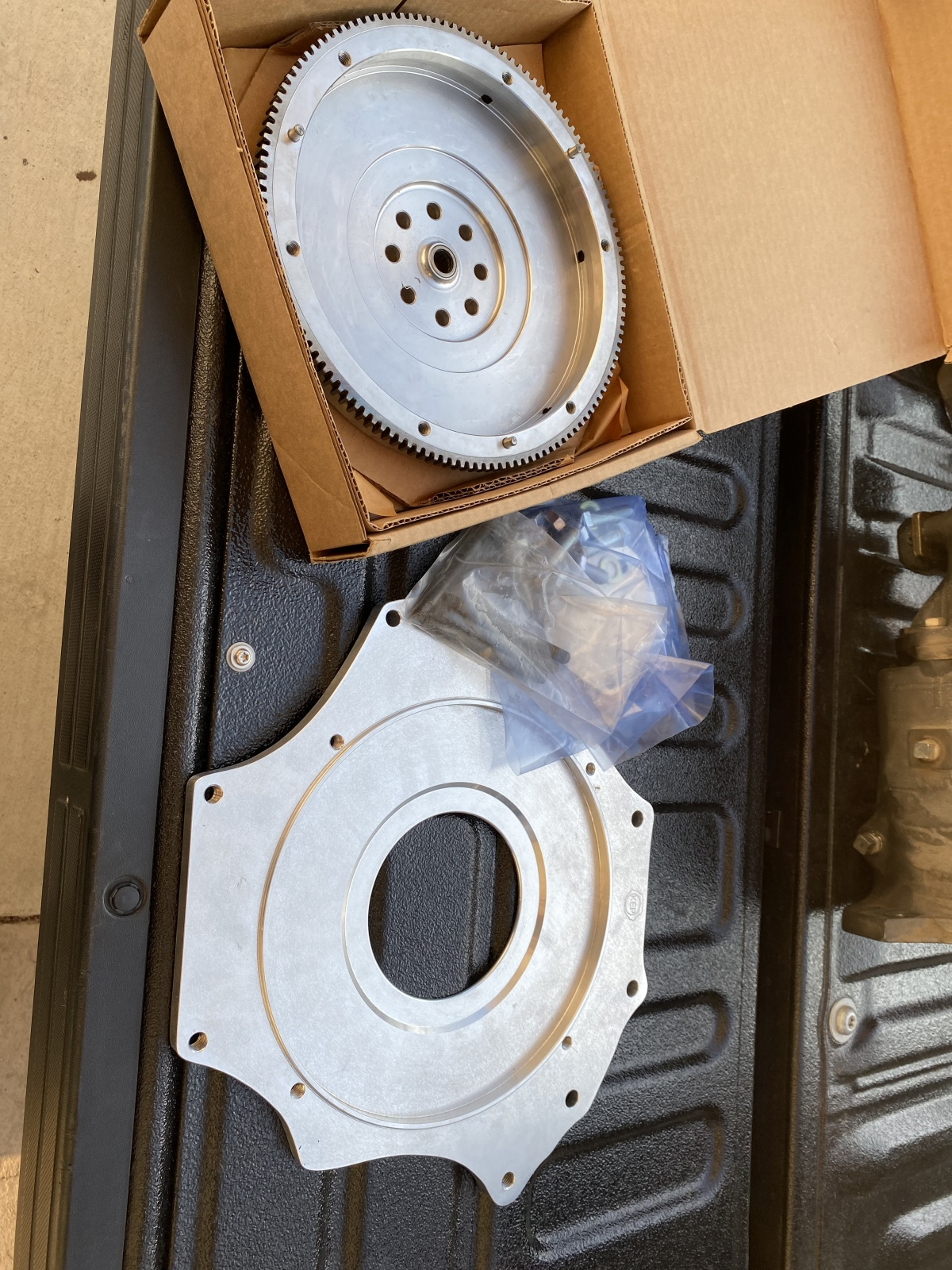 """For Sale: 2.4L Ecotech adapter plate & 9"""" flywheel  - photo0"""