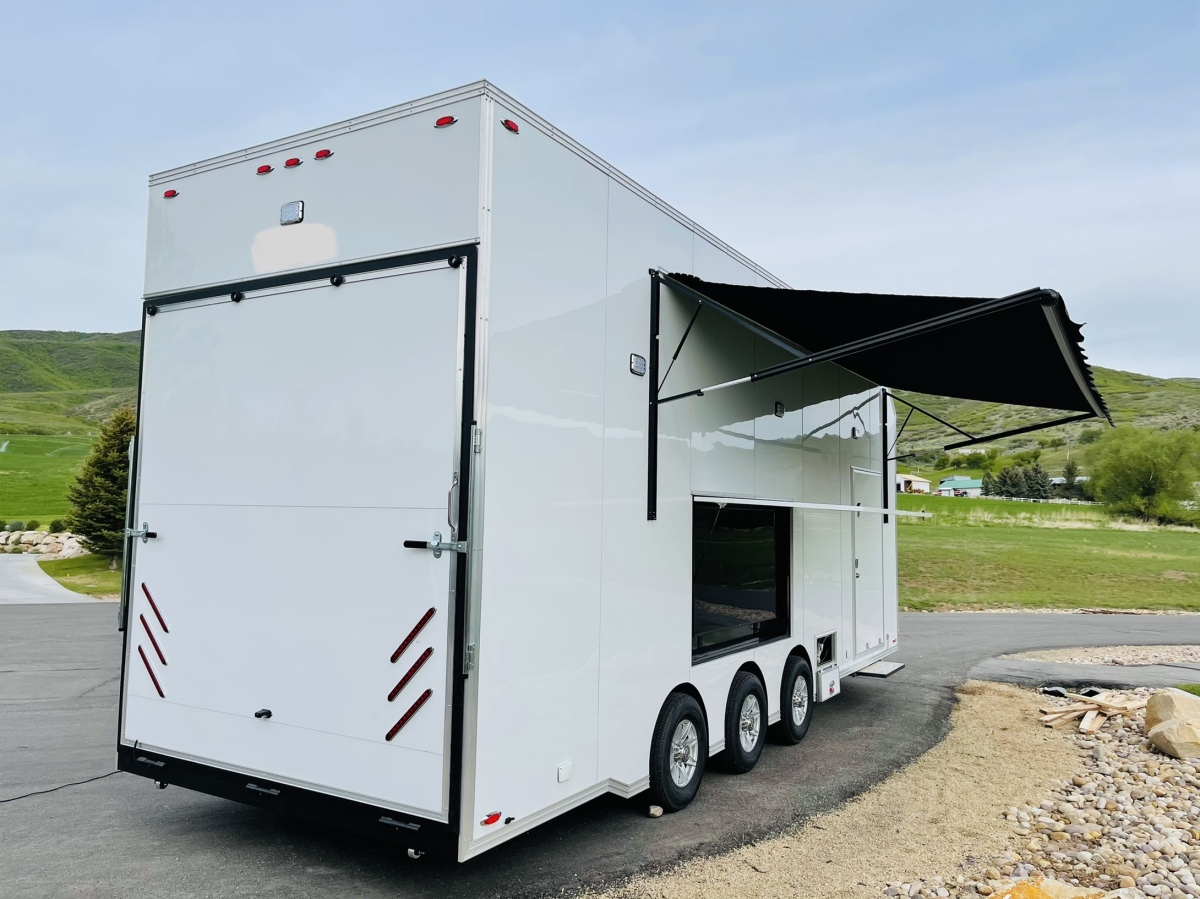 For Sale: 2021 Stacker Trailer 28' Belly Lift Fuel & Water On Board NEW - photo2