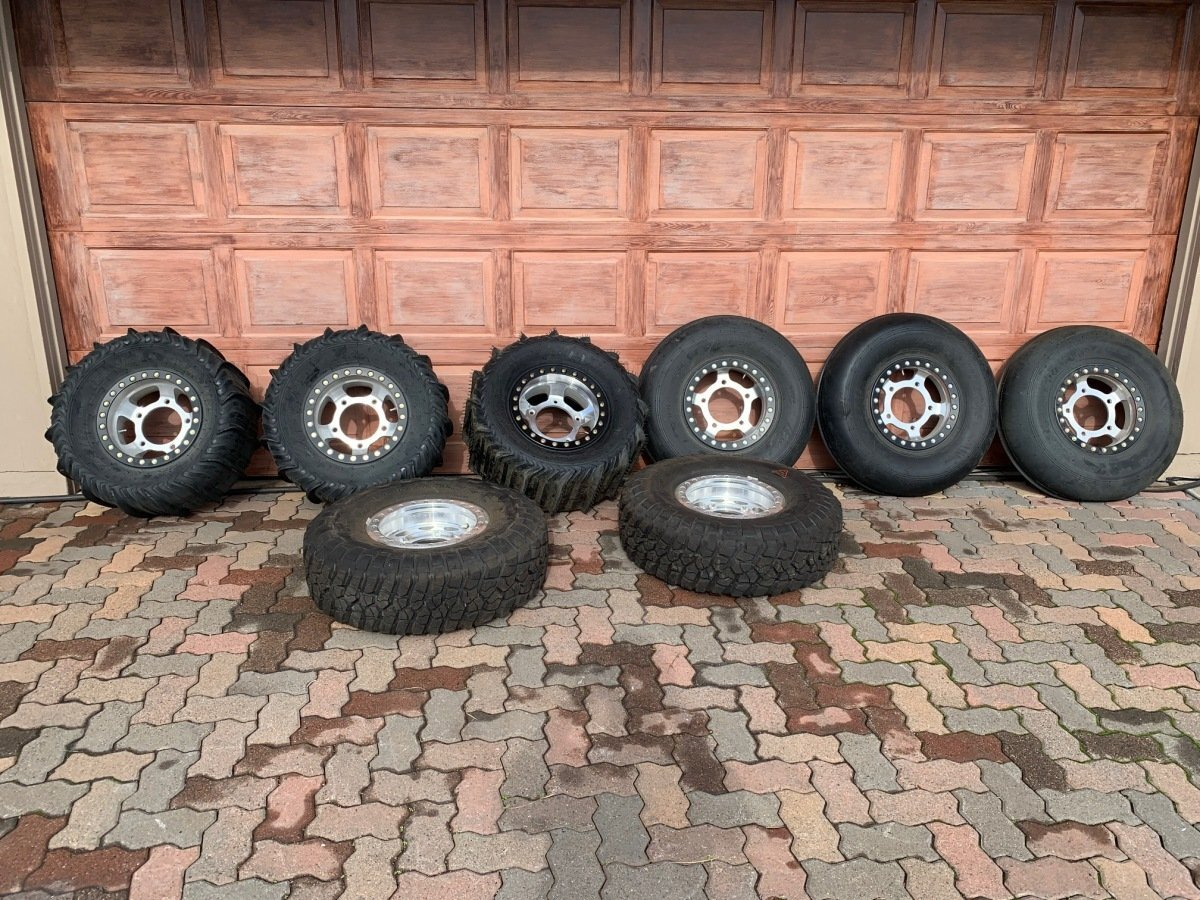 For Sale: New beadlock wheels and sand tires plus full spare - photo0