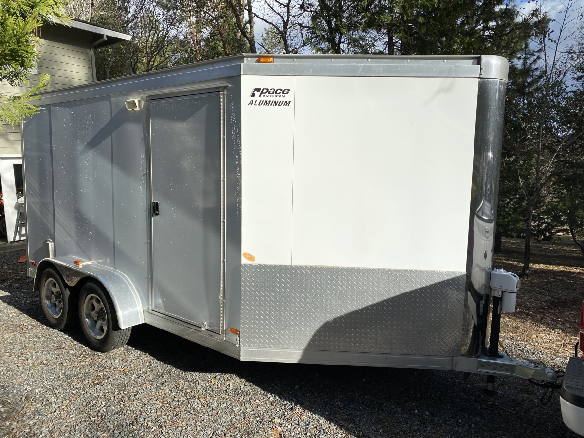 For Sale: Pace American Silver Arrow 7 X 14 Aluminum V-Nose Trailer - photo0