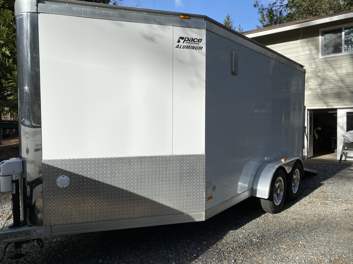 For Sale: Pace American Silver Arrow 7 X 14 Aluminum V-Nose Trailer - photo8