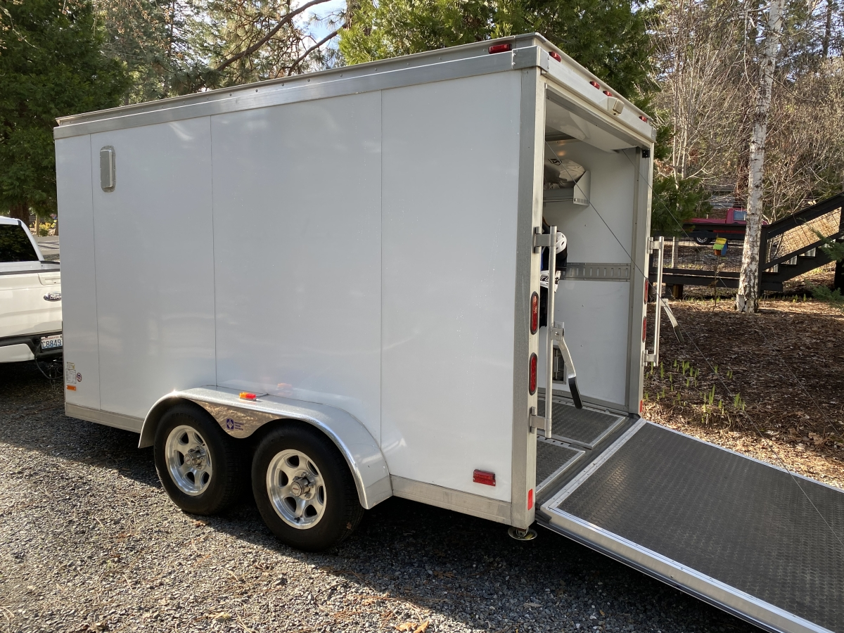 For Sale: Pace American Silver Arrow 7 X 14 Aluminum V-Nose Trailer - photo9
