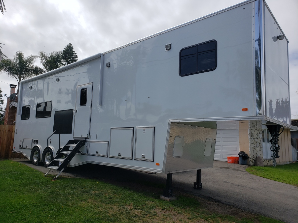 For Sale: Race Trailer With Luxury Living Quarters - photo0