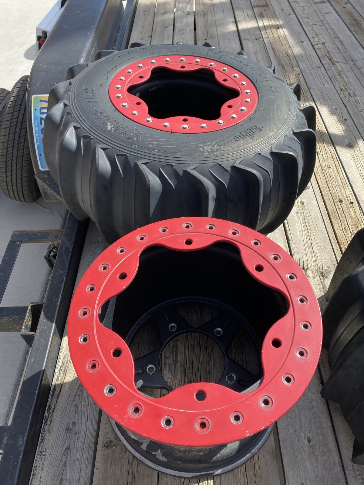 For Sale: Bourgette wheels and Titan front tires - photo0