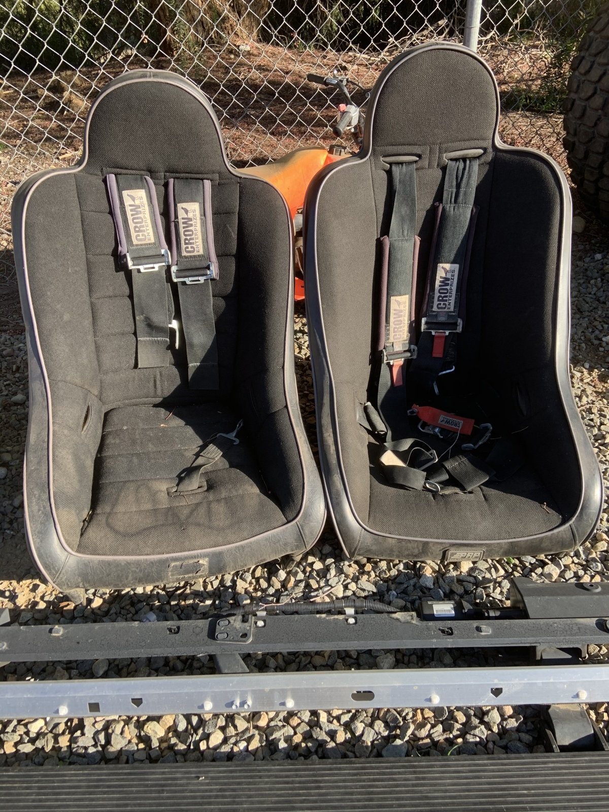 For Sale: 2 Extra Wide Black PRP Seats w/ Crow belts $200 - photo0