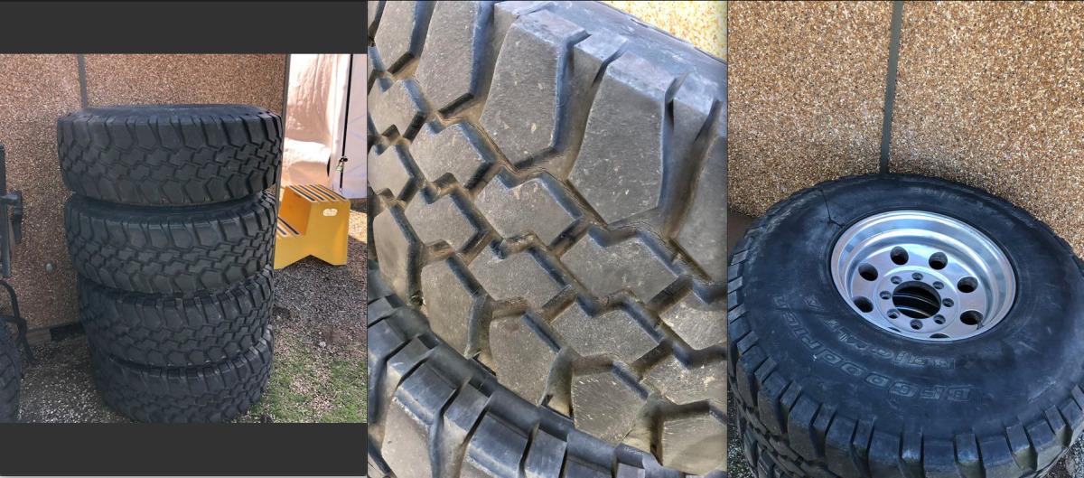For Sale: BFGoodrich Baja 37x12.5x16.5 Tires & Aluminum Wheels - photo0