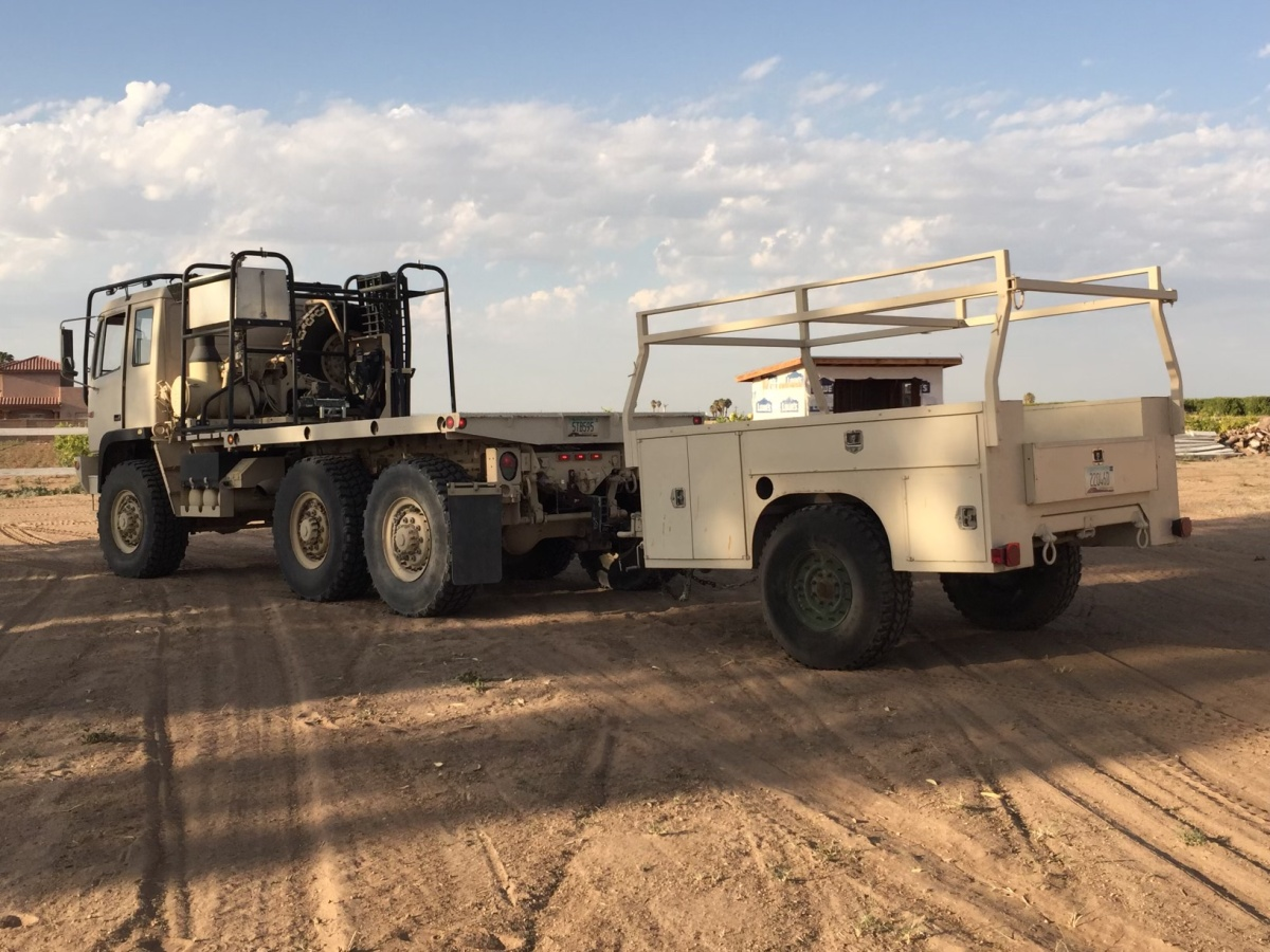 For Sale: 2004 Stewart & Stevenson 6x6 Military Hauler with Trailer and accessories - photo2