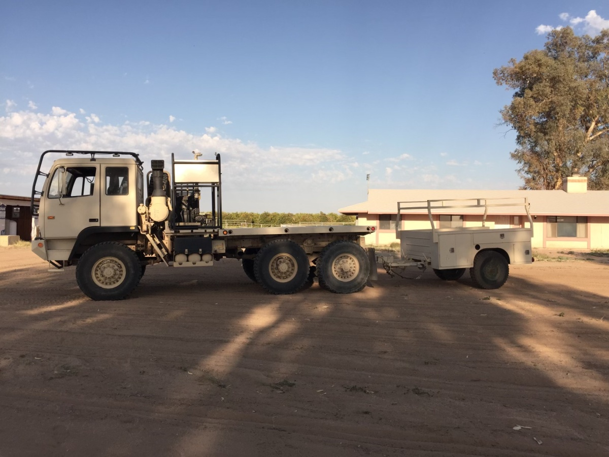 For Sale: 2004 Stewart & Stevenson 6x6 Military Hauler with Trailer and accessories - photo0