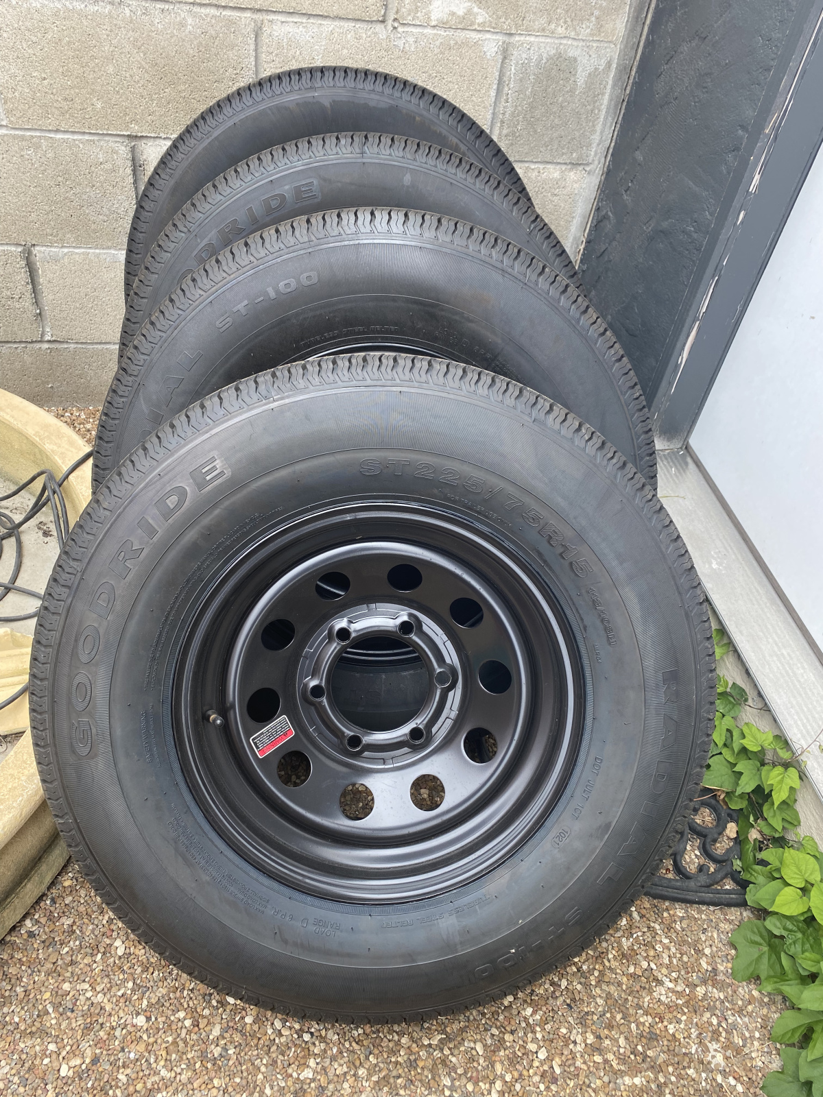 For Sale: 4 Brand new trailer tires/wheels  - photo0