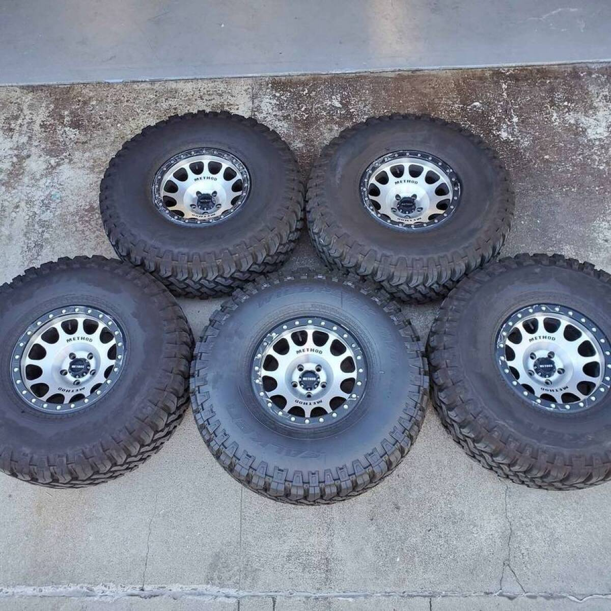 For Sale: Method Beadlocks & 38x13.50x17 Falken Tires - photo0