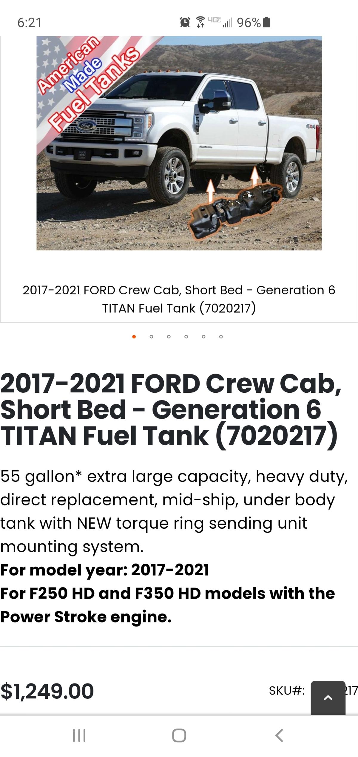 For Sale: F250/ 350 55 gallon fuel tank  - photo0