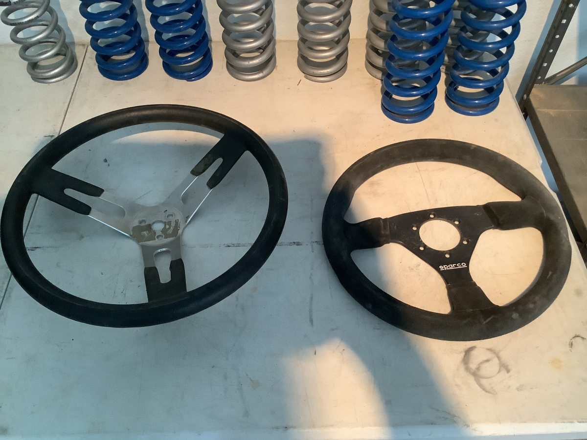 For Sale: 2 steering wheels. 1 sparco - photo0