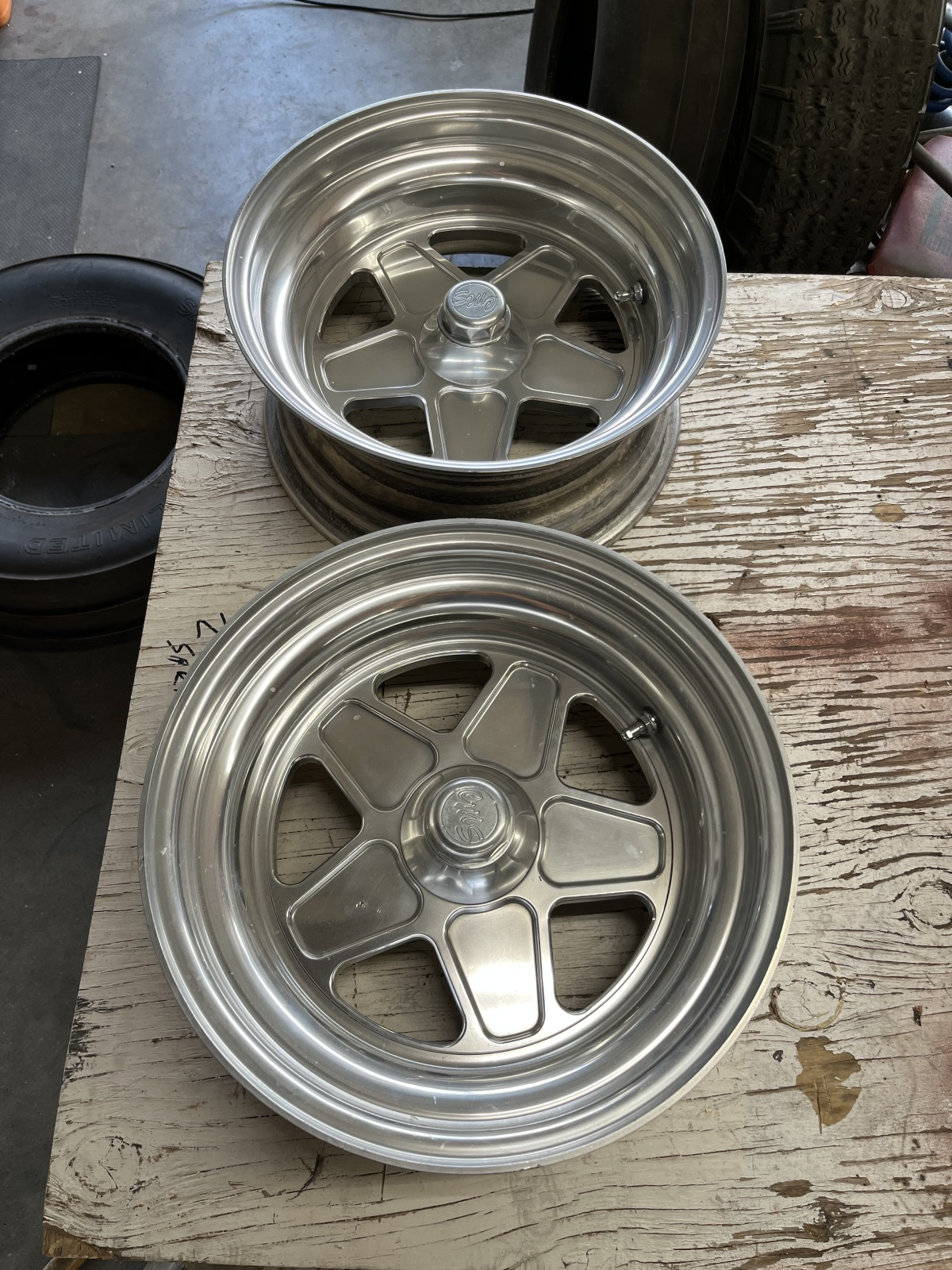 For Sale: CMS Combo Spindle mount Wheels - photo0
